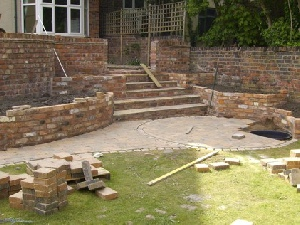 Garden in construction - Wallasey, Wirral