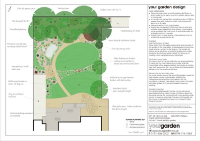 Example garden design - Wallasey, Wirral